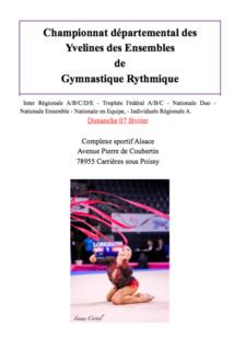 GR - MAJ: Championnat Départemental Ensembles, fev 2016
