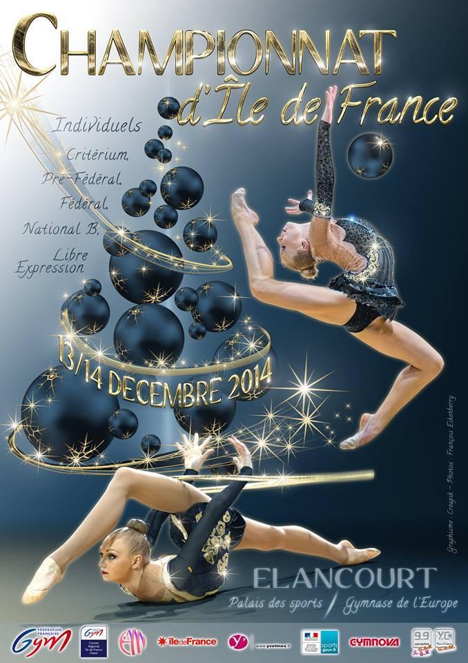 Championnat d'Île-de-France de Gymnastique Rythmique 13 et 14 Décembre 2014