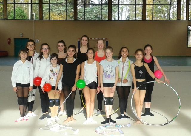 Les gymnastes GR, CPS Versailles