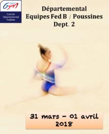GAF - Organigramme Equipes FED B / FED B Poussines - Dept 2