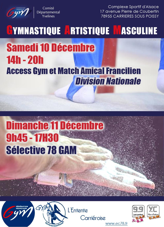 GAM - Match Amical Francilien, Access Gym et Sélective 78 - Dec 2016