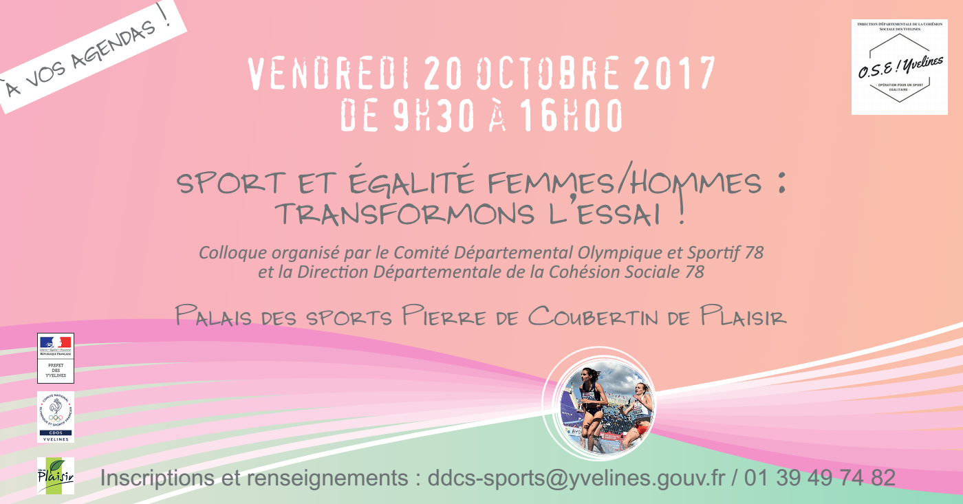 Colloque Sport et égalité femmes / hommes