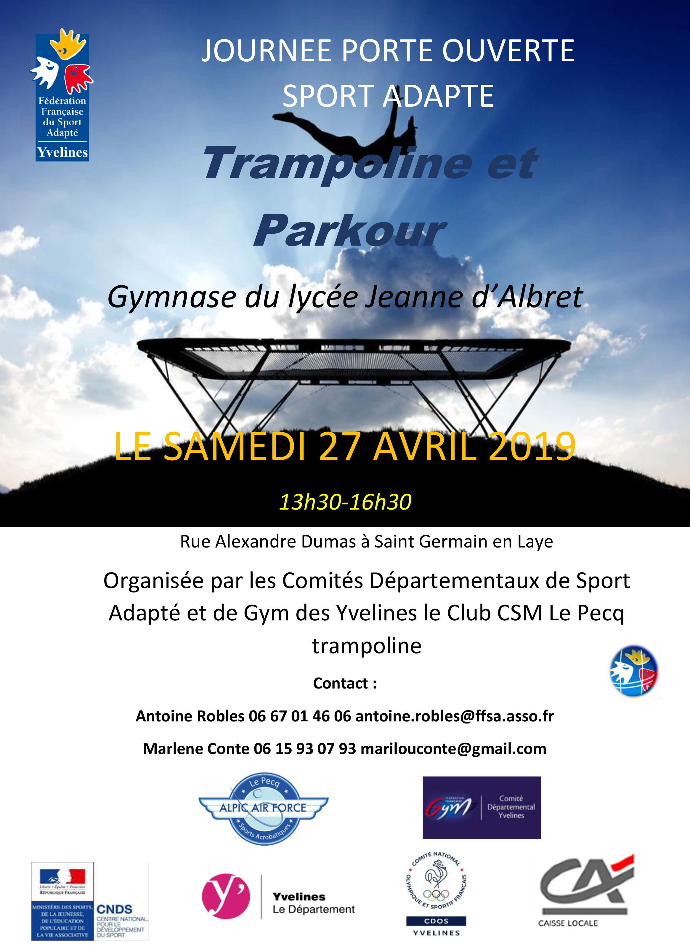 """Après-midi """"SPORT ADAPTÉ"""" en Trampoline et Freestyle Gym !"""