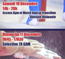 GAM - Match Amical Francilien, Access Gym et Sélective 78 - Dec 2016