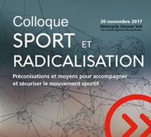 """INVITATION COLLOQUE - """"Sport et radicalisation"""" - 30 nov"""
