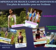 Championnats de France Individuels GAM/GAF 2014: 8 médailles pour nos gymnastes yvelinois!!!